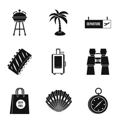 Liberalization icons set simple style vector