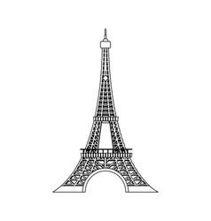 line eiffel tower beauty architecture in paris vector image