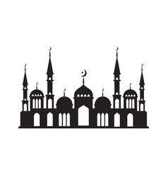 Logo muslim mosque vector