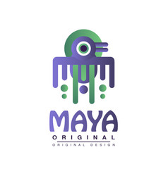 maya original design american indian tribal vector image