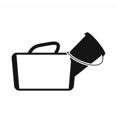 Medical bag icon simple style vector image