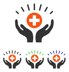 Medical prosperity flat icon vector