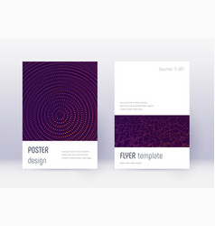 minimalistic cover design template set violet abs vector image