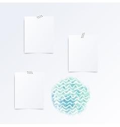 mood board template vector image