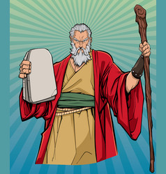 Moses religious icon vector