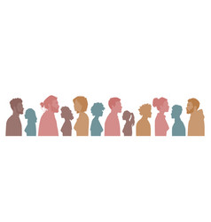Multiracial multicultural diversity silhouettes vector
