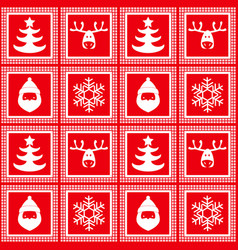 new year christmas red checkered pattern vector image