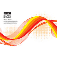 orange line wave geometric abstract background vector image