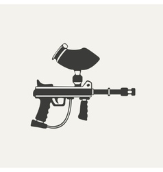 paintball gun Black and white vector image