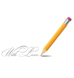 Pencil background with love vector image