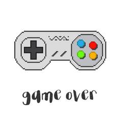 Pixel game controller vector