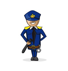 Profession police man cartoon figure vector image