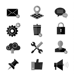 SEO and internet icon set Web website vector image