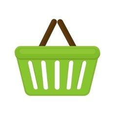 Shopping basket icon flat style isolated on white vector image vector image