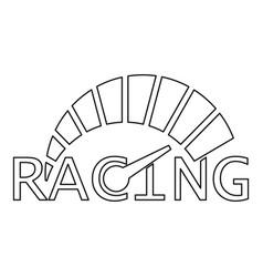 Speedometer logo outline style vector