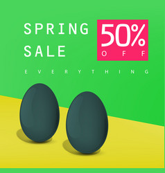 Spring sale poster sale badge advertising card vector