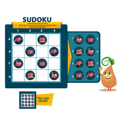 Sudoku game heart logic iq vector