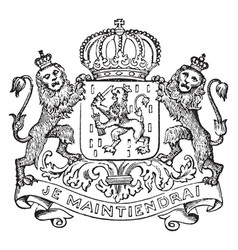 The great seal of luxemburg is a european seal vector