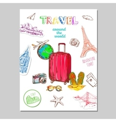 Tourism Sketch Poster vector