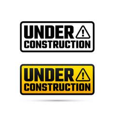 Under construction design website development vector