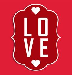 Valentine day l-o-v-e image vector