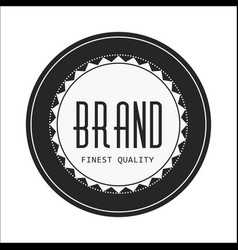 Vintage circle brand image vector