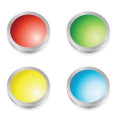 web buttons colors vector image