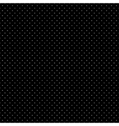 White Dots Black Background vector image