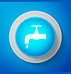 white water tap with a falling water drop icon vector image