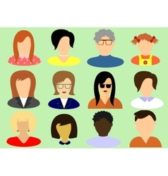 womens faces taken from front vector image