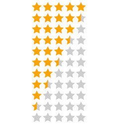 Yellow orange 5 star rating infographic vector