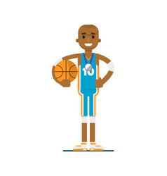 Young african man basketball player vector
