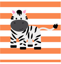 cartoon zebra print vector image