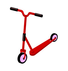 children red scooter transport for children walks vector image vector image