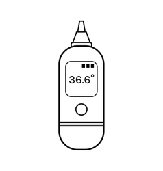 Infrared ear thermometer Linear flat object vector image vector image