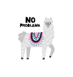 lama solves problems vector image vector image