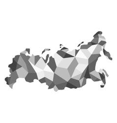 map Russia polygon vector image vector image