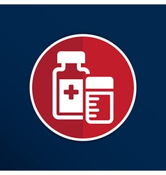 medication icon chemistry Flat design style vector image