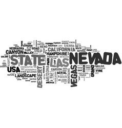 Nevada word cloud concept vector