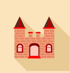 ancient brick castle icon flat style vector image vector image