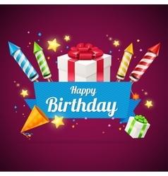 Birthday card flyer or placard vector