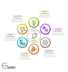creative infographic design template vector image vector image