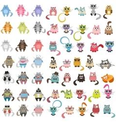 big set of cats vector image vector image