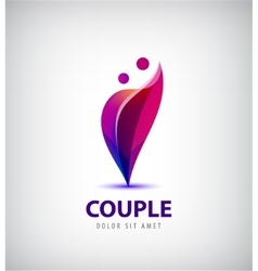 couple logo Love support man and woman vector image vector image