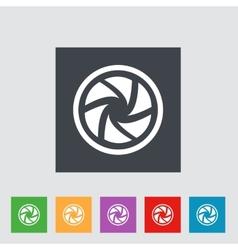 Flat camera shutter icon vector image vector image