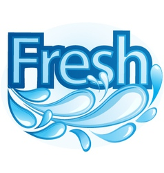 Fresh and Water Label vector image vector image