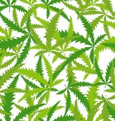 Marijuana cannabis seamless pattern background of vector