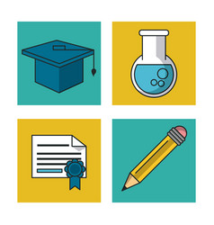 science and ideas icons vector image