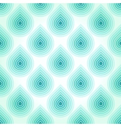 Seamless blue abstract pattern with falling water vector image