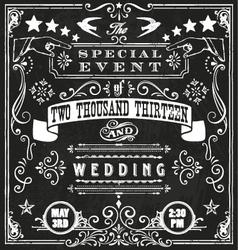 Wedding invite 4 vector